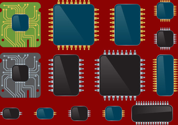 Microchips Set - vector gratuit #343195