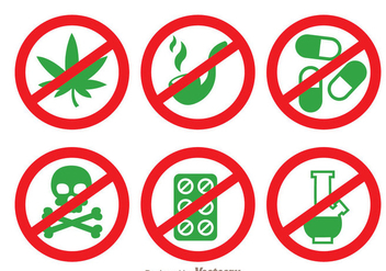 No Drugs Vector - vector gratuit #343235