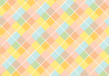 Pastel Diamond Pattern Vector - Free vector #343245