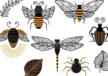 Free Insects Vectors - Kostenloses vector #343305