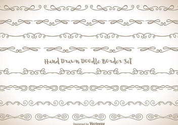 Hand Drawn Doodle Border Set - Free vector #343365