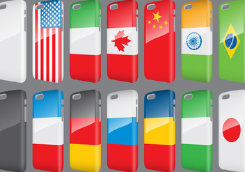 Flags Phone Cases - vector #343375 gratis