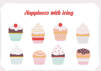 Free Set of Ice Cream Vector Background - бесплатный vector #343405