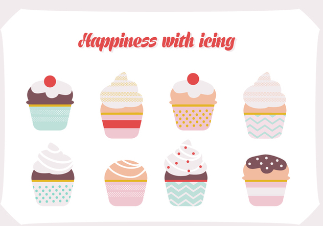 free set of ice cream vector background free vector download 343405