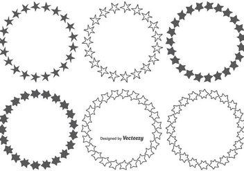 Hand Drawn Star Frames Set - Free vector #343445