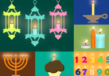 Candles Vectorial Illustrations - vector #343455 gratis
