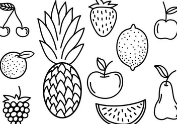 Free Fruit Doodles Vectors - бесплатный vector #343645