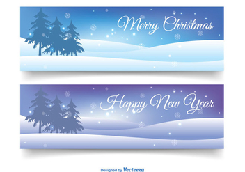 Christmas Banner Set - vector gratuit #343685