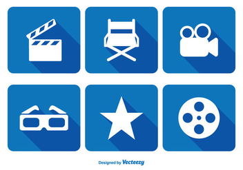 Cinema Related Icon Set - бесплатный vector #343695