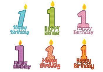 1st Birthday Vector - vector gratuit #343725