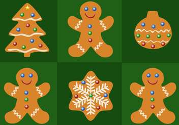 Free Gingerbread Christmas Vector - Free vector #343805