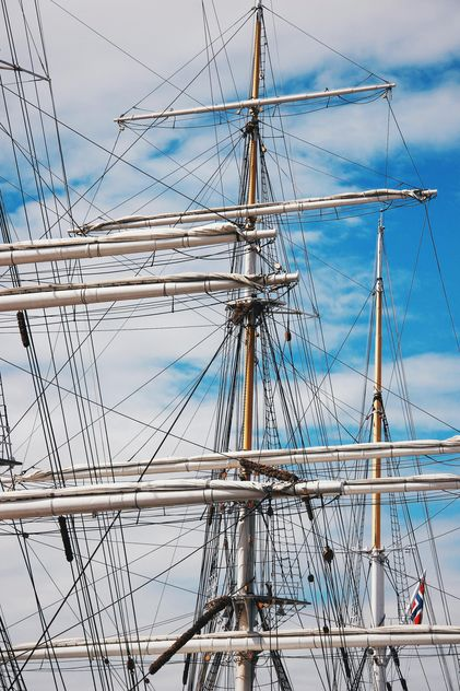 A three-masted ship in Norway - image #344025 gratis
