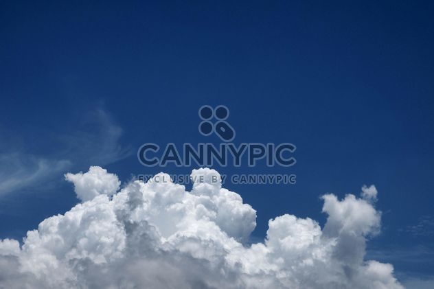 Blue sky with white cloud - Free image #344215