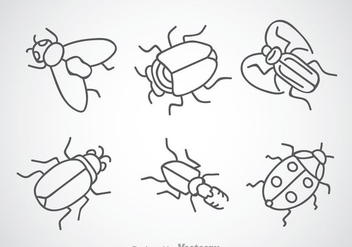 Insect Drawing Icons - vector gratuit #344325