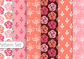 Romantic Colorful Pattern Set - vector #344345 gratis