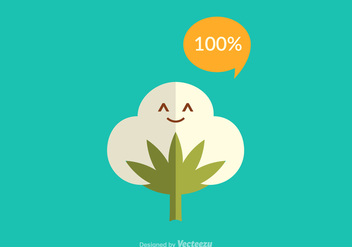 Free Cotton Plant Vector - Free vector #344475