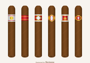 Free Cigar Label Vector Set - бесплатный vector #344655