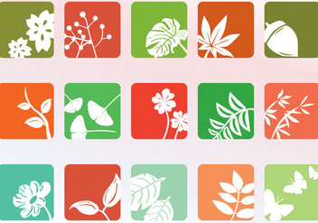 Nature Icon Set - vector #344695 gratis