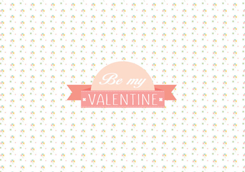 Valentine's day pattern background - vector gratuit #344705
