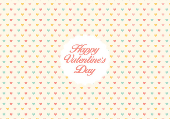 Valentine's day heart pattern background - Free vector #344715