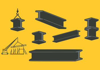 Steel Beam Pack - vector gratuit #344785