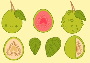 Cute Guava Vectors - бесплатный vector #344845
