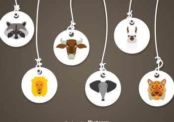 Animal Medals - vector gratuit #344875