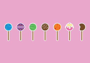Cake Pops Pack - vector gratuit #344895