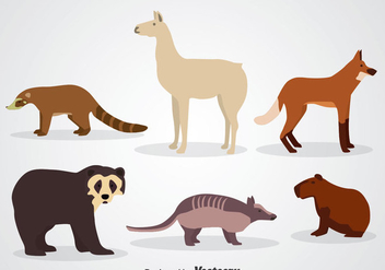Wildlife Animal Icons - Free vector #344925