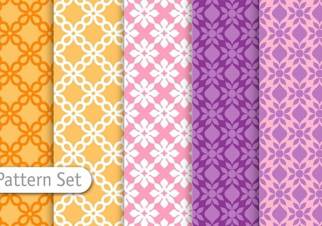 Decorative Colorful Pattern Set - Free vector #344945