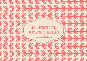 Cute Hand Drawn Style Background Pattern - Kostenloses vector #344955