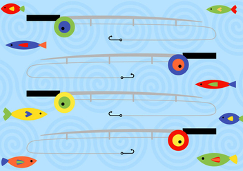 Free Fishing Rod Vector - Kostenloses vector #345205