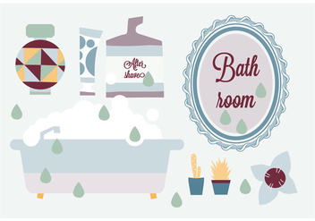 Free Bathroom Elements Vector Background - Kostenloses vector #345235
