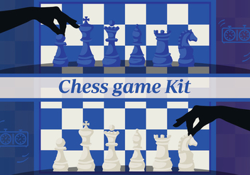 Free Set of Chess Design Elements Vector Backgorund - Free vector #345245