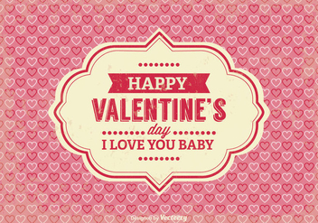 Vintage Valentine's Day Illustration - Free vector #345275