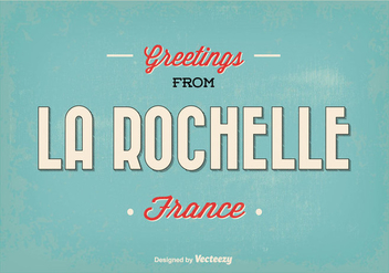 Rochelle France Greeting Illustration - бесплатный vector #345305