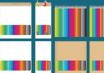 Color Pencil Boxes - бесплатный vector #345325