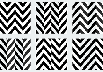 Free Black and White Herringbone Patterns - бесплатный vector #345445