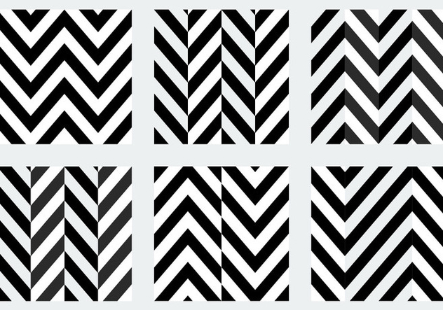 Free Black and White Herringbone Patterns - Free vector #345445