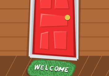 Welcome Mat Vector - vector gratuit #345465