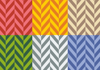 Free Flat Colors Herringbone Patterns - Free vector #345495