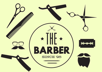Vector Collection of Barber Tools - vector gratuit #345505