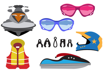 Vector Illustration of Jet Ski Equipment - vector gratuit #345575
