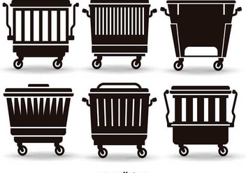 Flat Dumpsters - Free vector #345595