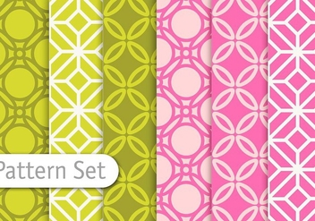 Decorative Colorful Pattern Set - vector gratuit #345625