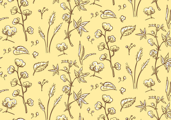 Cotton Plant Pattern - Kostenloses vector #345665