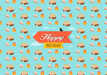 Birthday pattern background - vector gratuit #345675