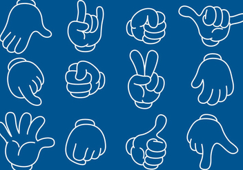 Cartoon Line Hands - Free vector #345685