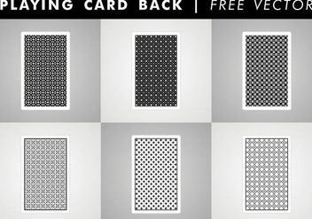 Playing Card Back Free Vector - vector gratuit #345695