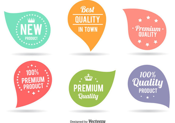 Cute Best Quality Labels - Free vector #345735